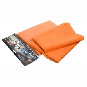 Silky orange microfiber towel for Car and Boat cleaning
