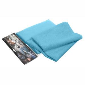 Silky blue microfiber cloths