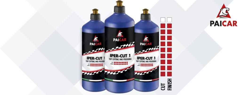 Abrasive power and polishing powe IPERCUT one step polishing compound PAI CAR - paicristal